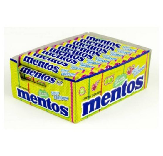 Mentos Sour Fruit 37.5 g 40 Per Box
