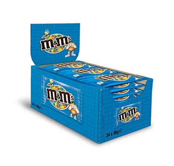 Chocolate M & M Crispy 36g Bags 24 Per Box