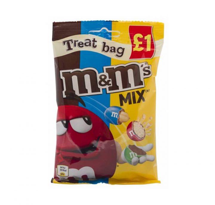 Chocolate M & M Mix Chocolate, Peanut and Crispy 90 g Bags
