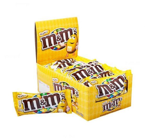 Chocolate M & M Peanut 45g Bags 24 Per Box