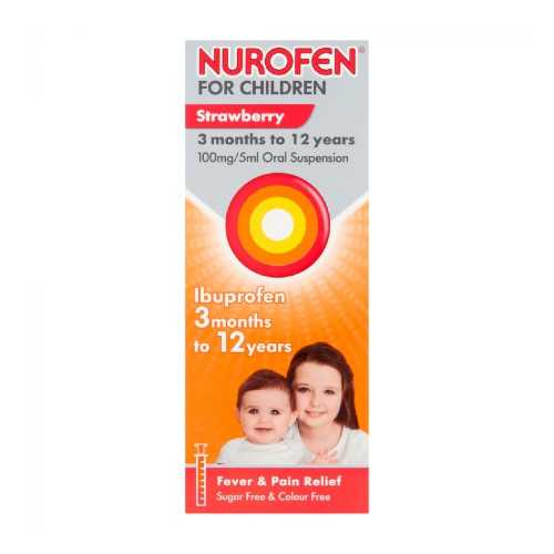 Medicine Nurofen Children for 3 to 9 Months Strawberry 100ml