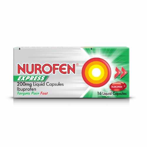 Medicine Nurofen Express 16 Liquid Capsules 200 mg X 6