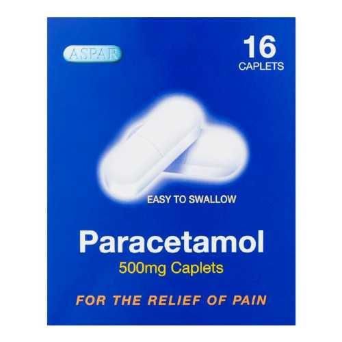 Medicine Paracetamol Caplet Aspar 500mg 16 Blister