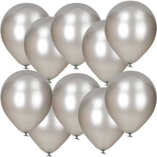 Party Balloons Pap Star Metallic Silver 10 ct Appox.8 inch X 12