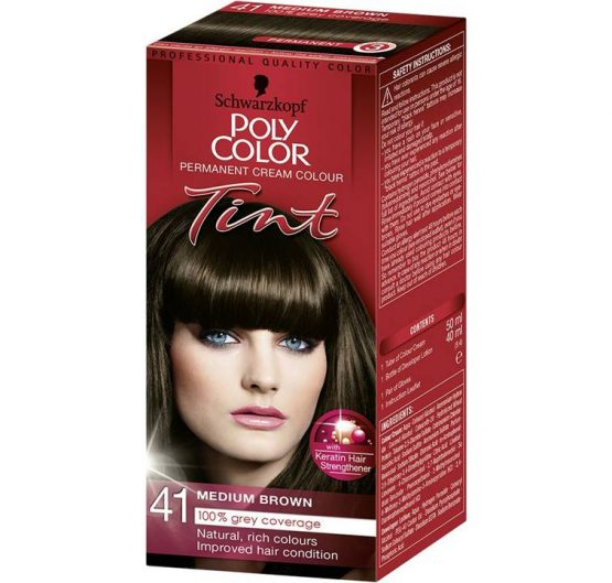 Hair Color Poly Tiint Medium Brown #41 X 3