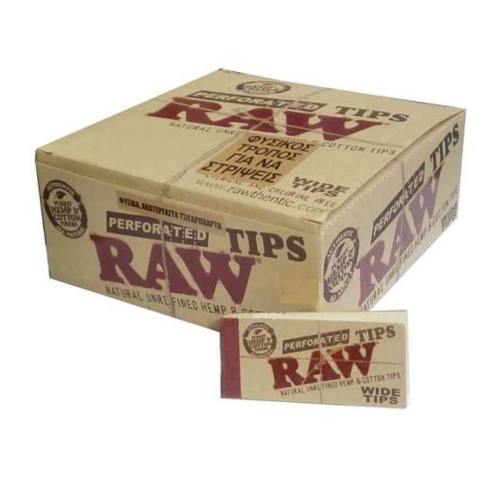 Filter Tips RAW Original Unrefined Tips 50/Box