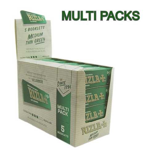 Rizla Rolling Paper Green Multi Pack 5 booklets