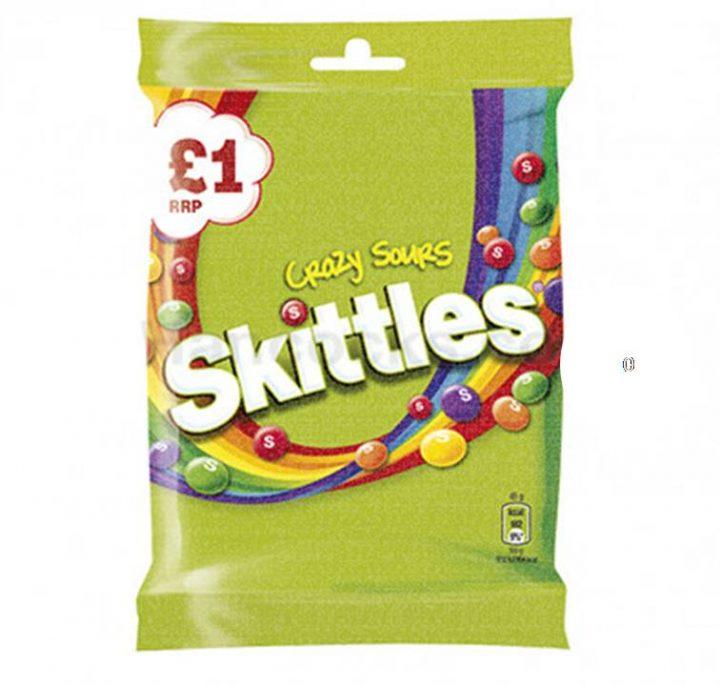 Chocolate Skittles Crazy Sour 125 g Bag £1