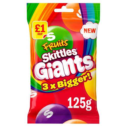 Skittles Fruits Giants 125 g Bag £1 12 Per Box