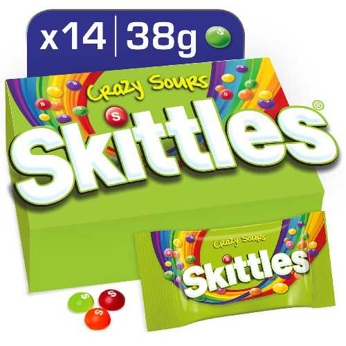 Skittles Crazy Sour Chewies 38g 14 Per Box
