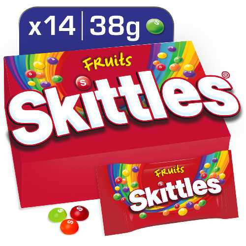 Skittles Fruits Chewies 38g 14 Per Box