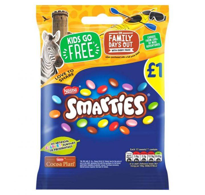 Chocolate Smarties Bag £1 97 g