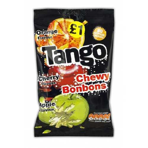 Tango Chew Bonbons Orange, Cherry & Apple 140g £1 Bag X 12