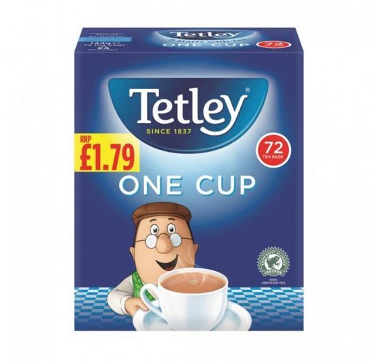 Tea Tetley One Cup 72ct £1.79 X 12