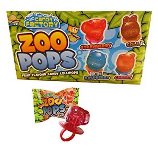 Lollipops Zoo Pops Fruit Flavours 11g 24/Box